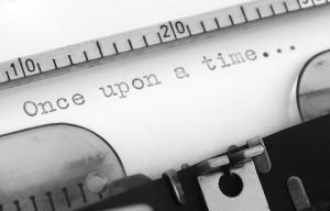 "type on typewriter ""Once upon a time..."""