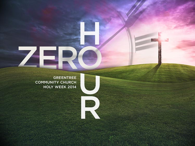 Zero Hour sermon series graphic