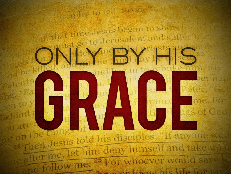 Only by his grace sermon series graphic