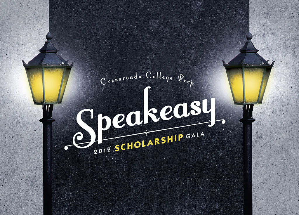 "2012 gala invitation ""speakeasy"""