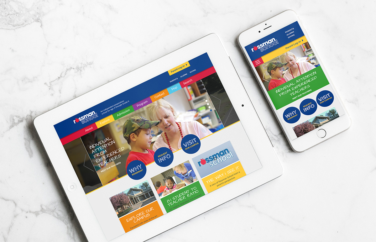 Rossman website mobile views on tablet and iPhone