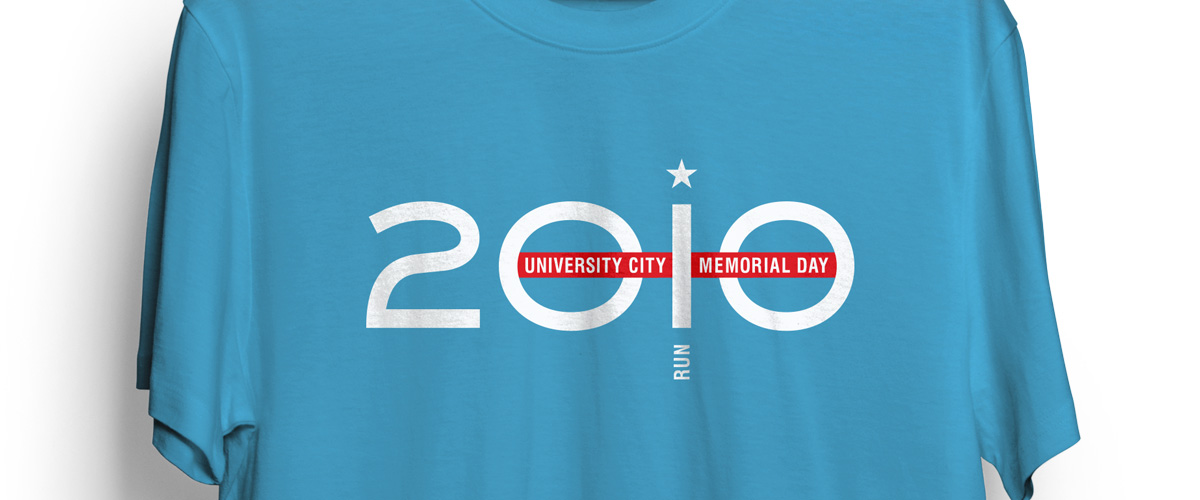 University City Memorial Day Run 2010 t-shirt