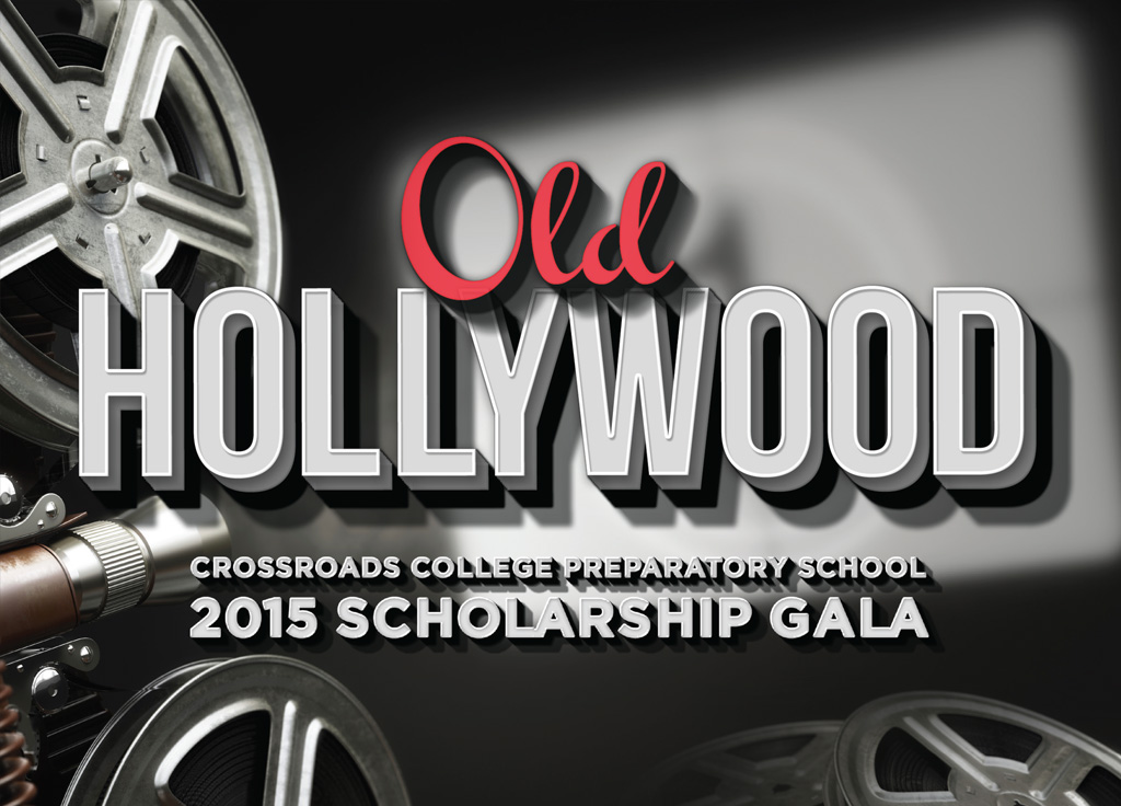 "2015 gala invitation ""old hollywood"""