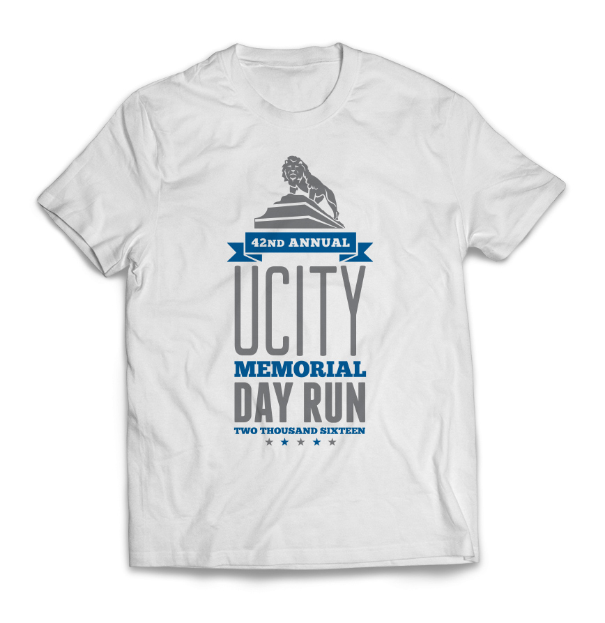 University City Memorial Day Run 2016 t-shirt