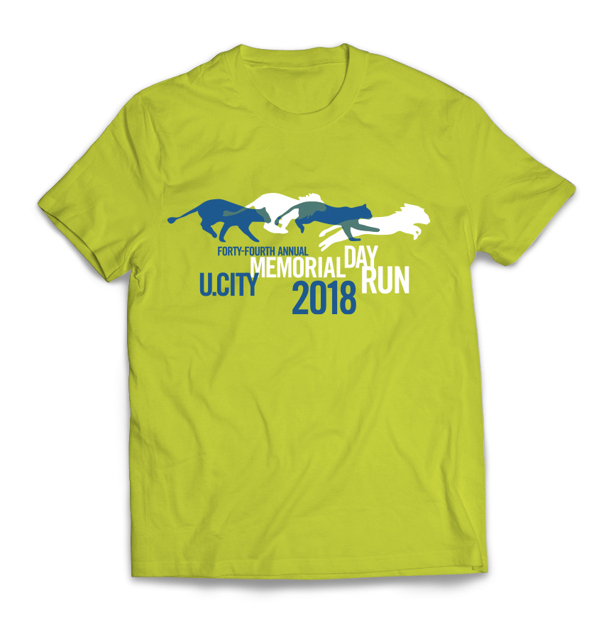 University City Memorial Day Run 2018 t-shirt