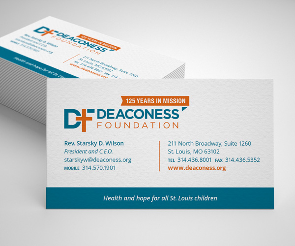 Deaconess Foundation business cards