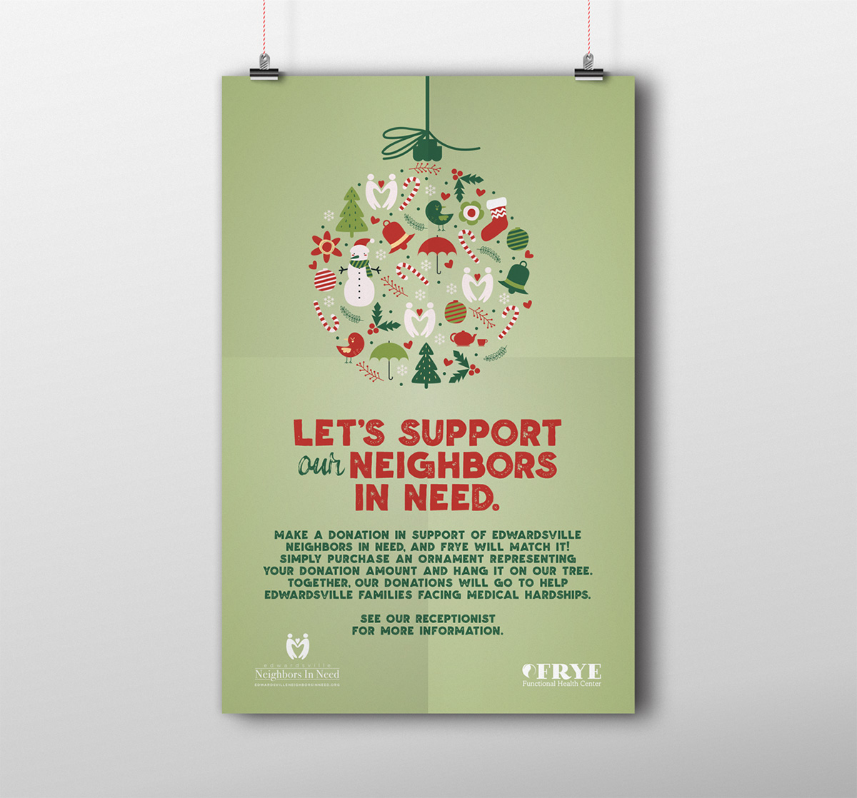 Edwardsville Neighbors Christmas fundraiser poster