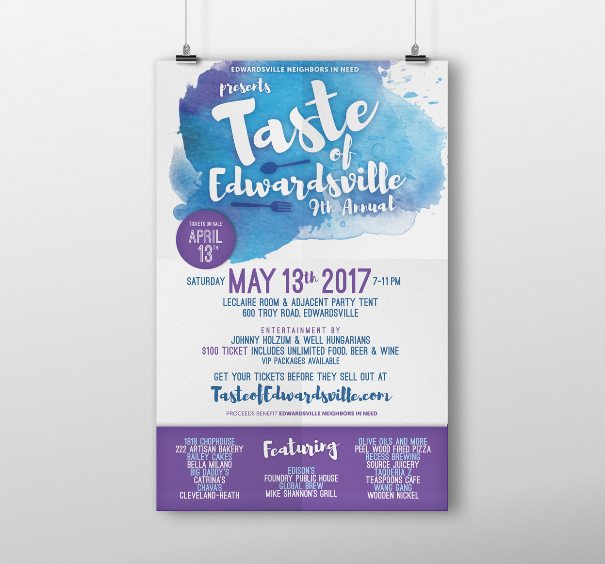 Taste of Edwardsville promotional poster