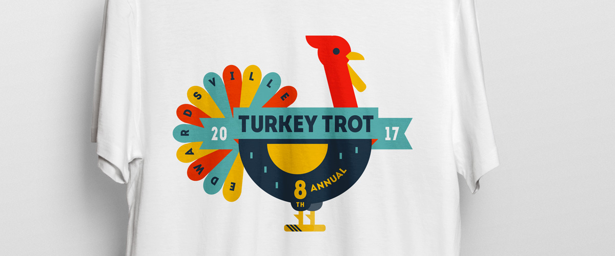 Turkey Trot logo and t-shirt