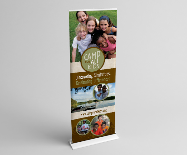 Camp for All Kids display banner