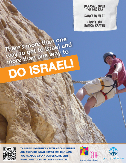 DO ISRAEL ad with teen rappelling the Ramon Crater