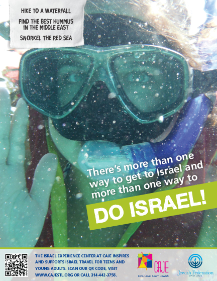 DO ISRAEL ad with young woman snorkeling in the Red Sea