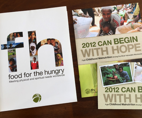 Food for the Hungry annual giving brochures and folder