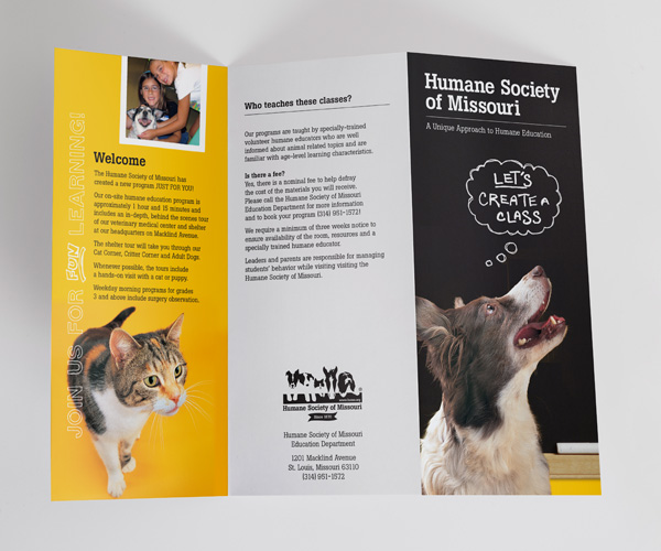 humane education brochure