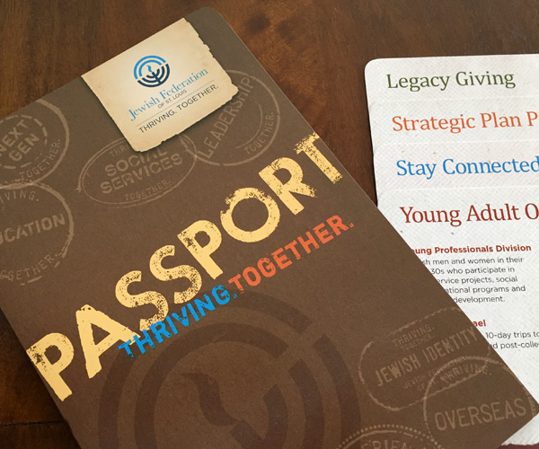 "Annual report ""passport"" cover"