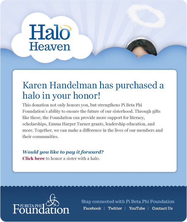 Halo Heaven donor receipt