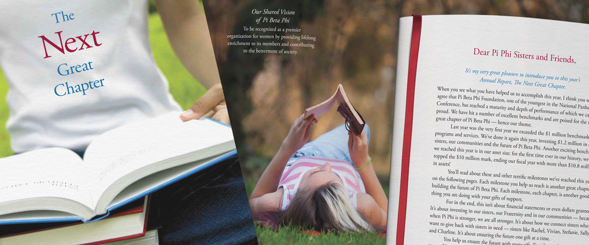 detail of pi beta phi foundation annual report