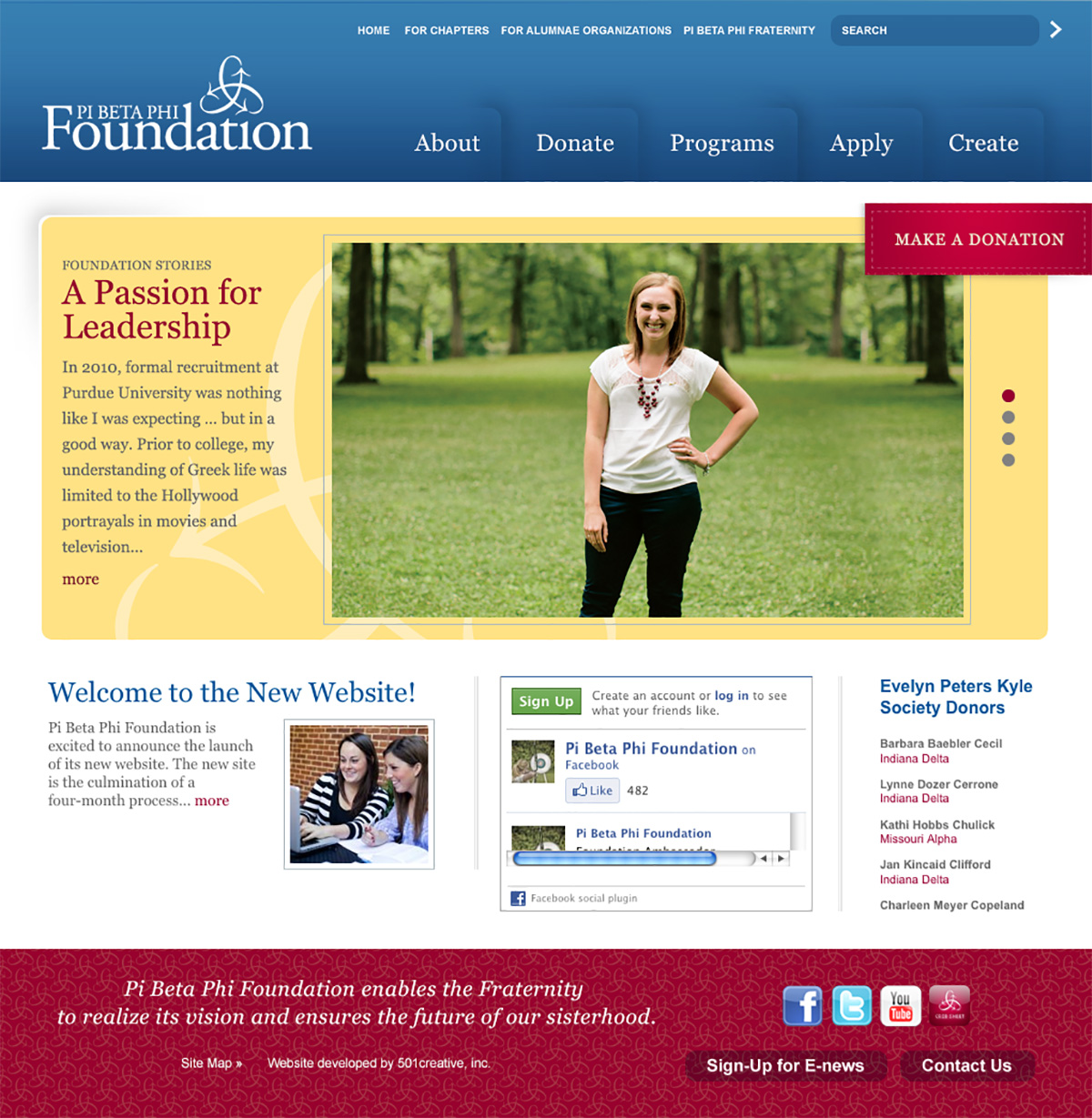 pi beta phi foundation website home page