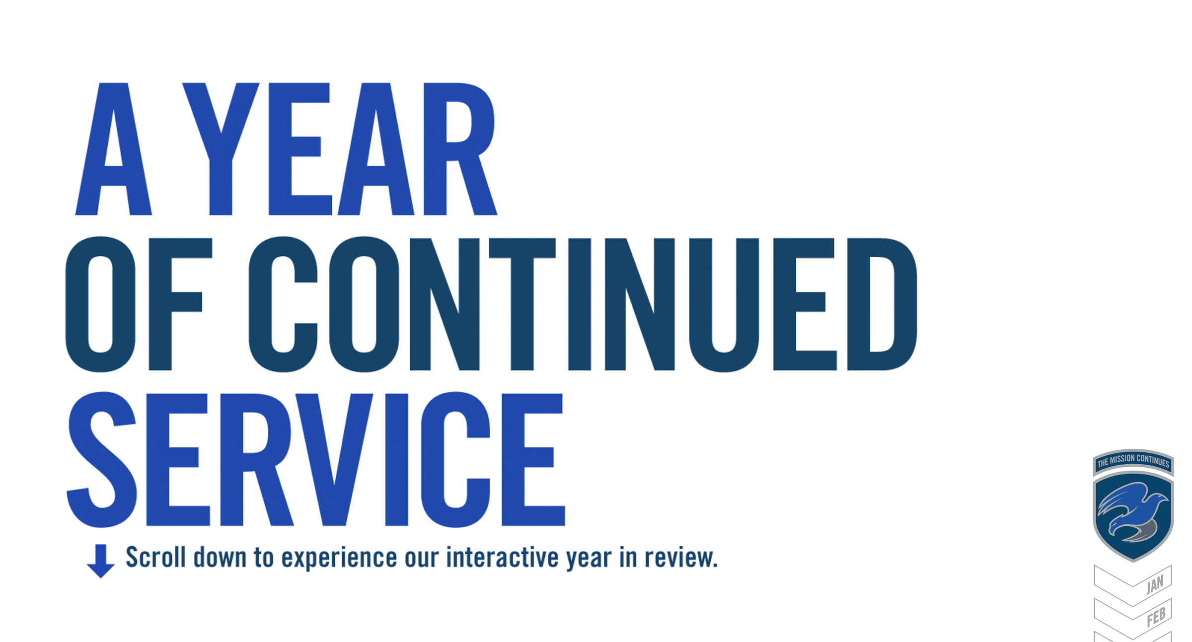2013 online annual report intro screen