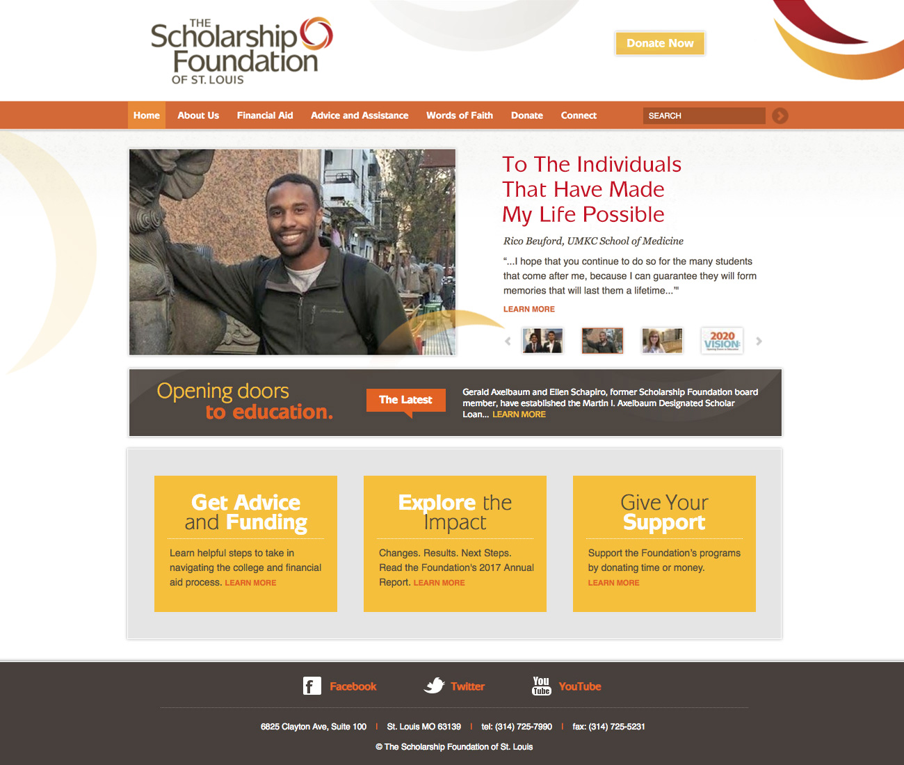 The Scholarship Foundation website home page