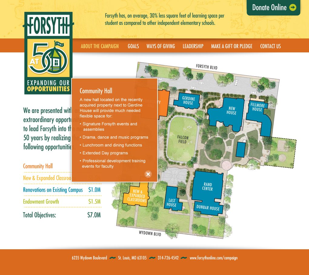 Forsyth School capital campaign website