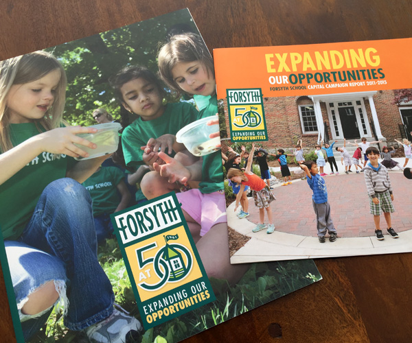Forsyth School capital campaign folder and case statement