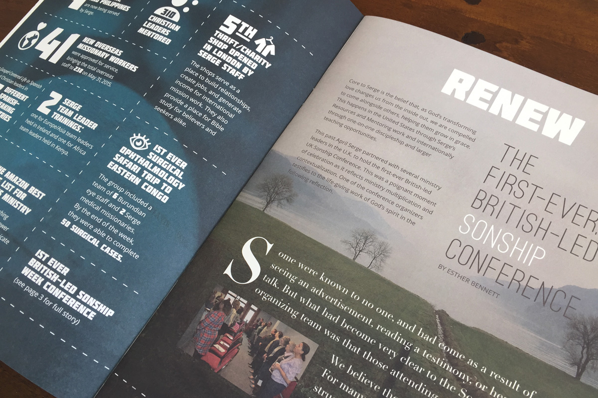 Serge 2014-2015 annual ministry report interior spread