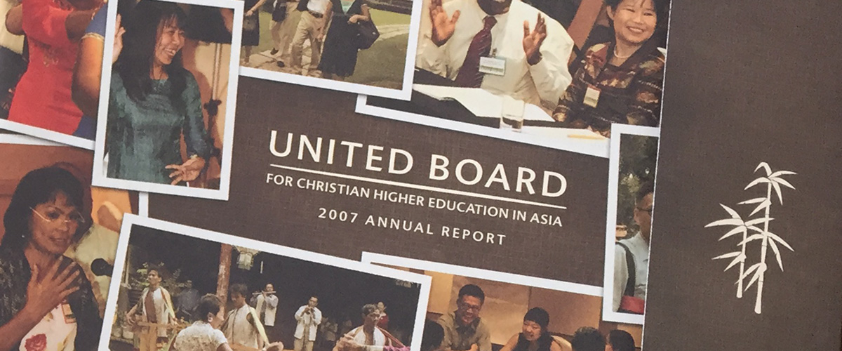 detail of annual report designed for United Board