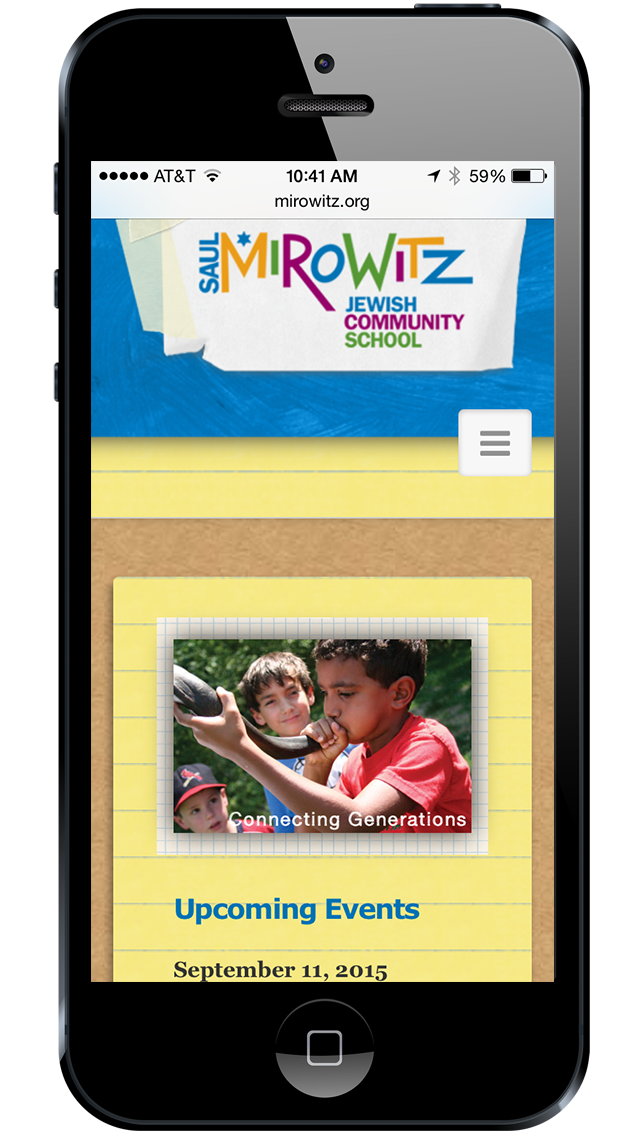 Mirowitz website mobile view