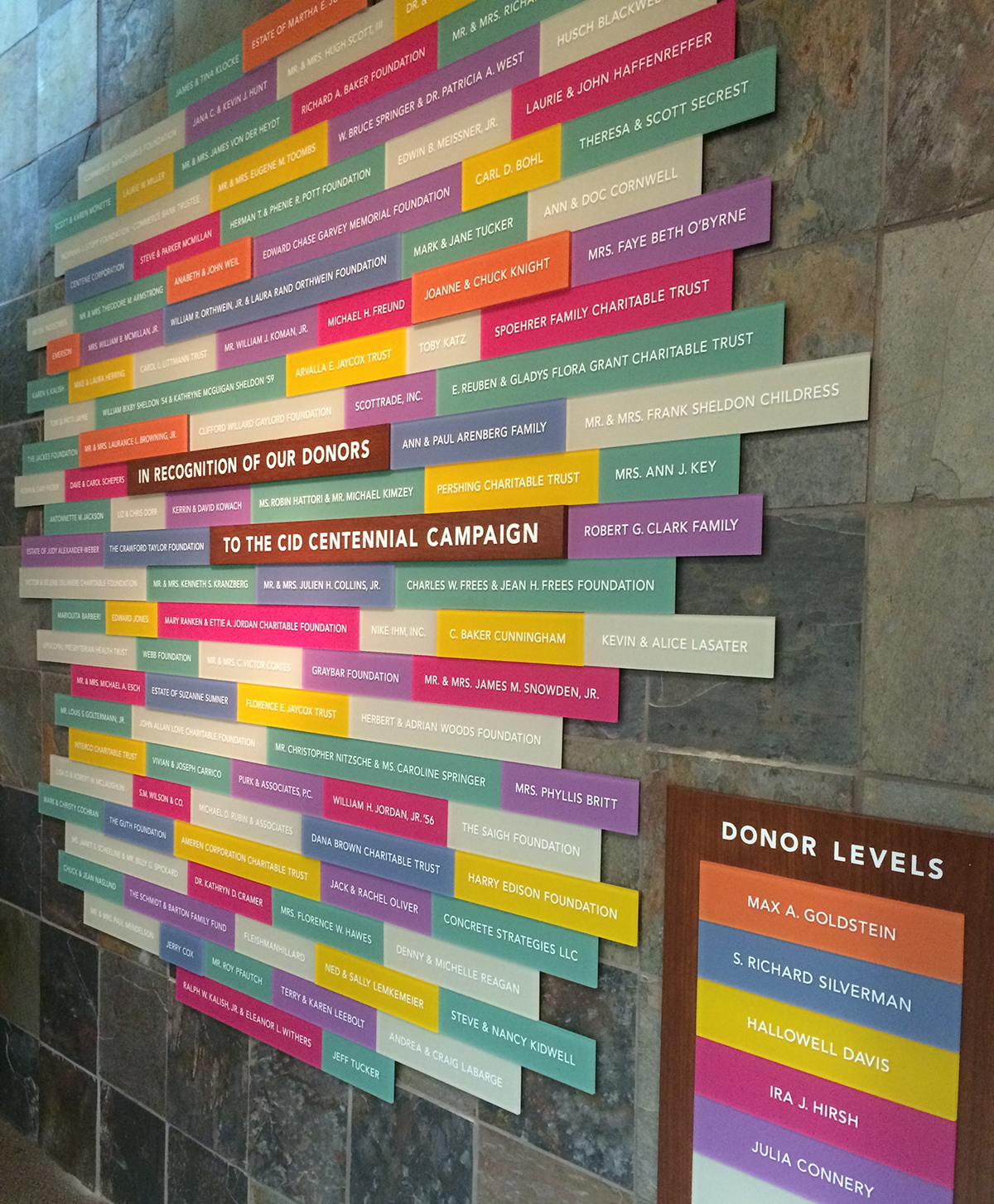 major gift donor wall