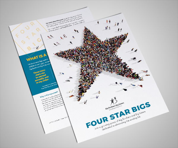 Big Brothers Big Sisters of Eastern Missouri promotional flyer title Four Star Bigs