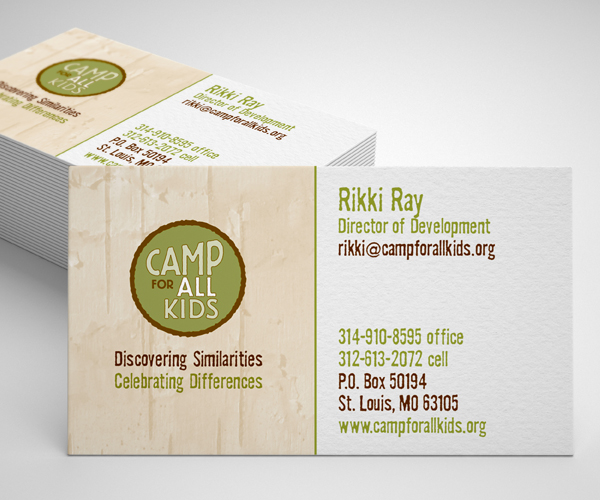 Camp for All Kids business cards