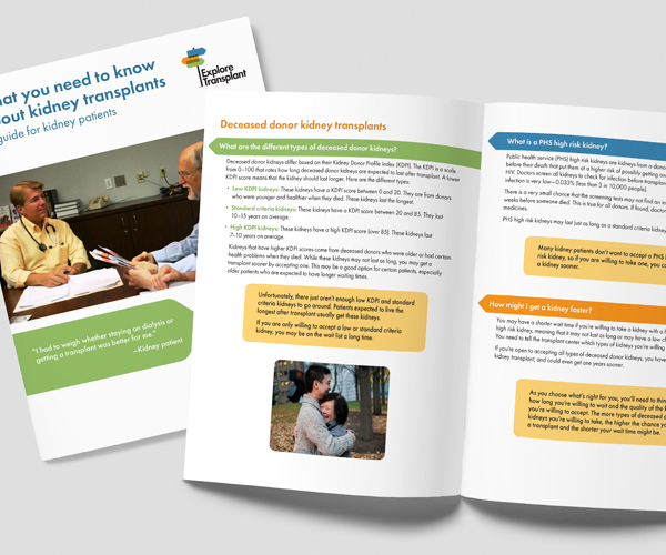 sample educational brochure cover and inside spread