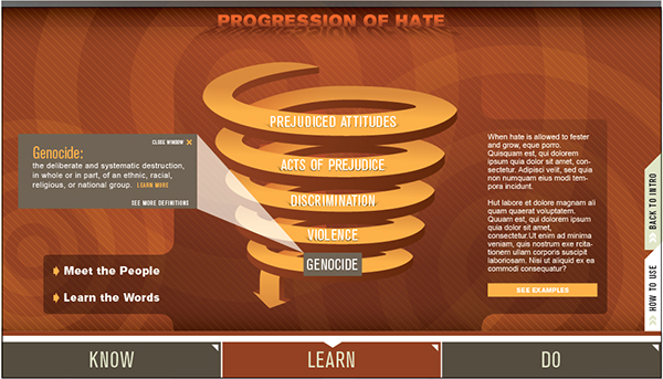 interactive spiral progression of hate