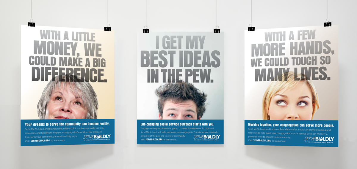 set of three Serve Boldly posters