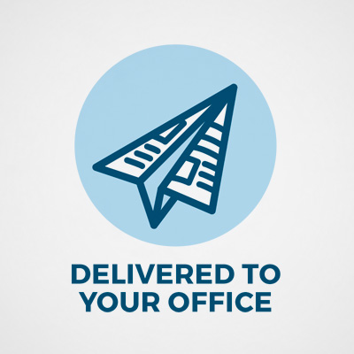Delivered to your office graphic